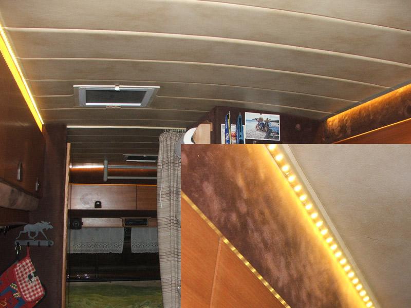 hobby 600 ein wohnmobil ist kult tip indirekte beleuchtung im aufbau. Black Bedroom Furniture Sets. Home Design Ideas
