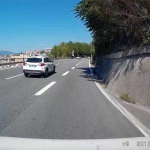 Einfügen auf der Autobahn bei Genova: