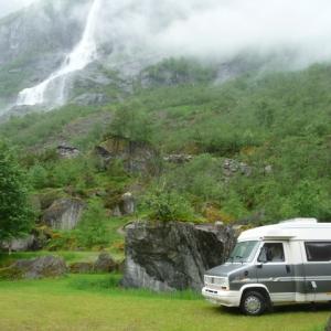 Norwegen - Campingplatz am Melkevoll-Gletscher