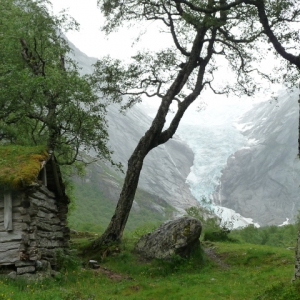 Norwegen Briksdalsbreen-Gletscher