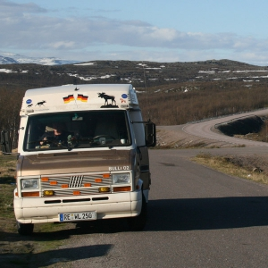 Die E10 zwischen Kiruna und Narvik